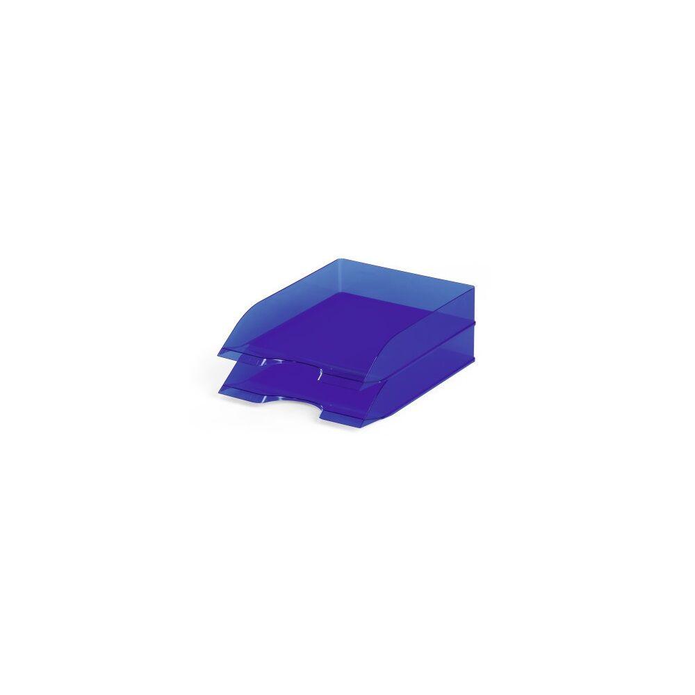 Irattálca DURABLE BASIC, áttetsző kék 6db/dob