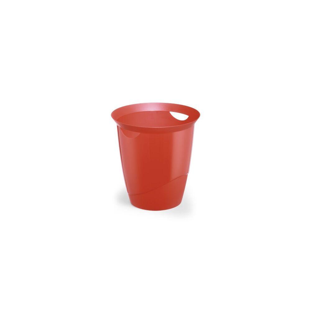 Papírkosár DURABLE TREND, áttetsző piros
