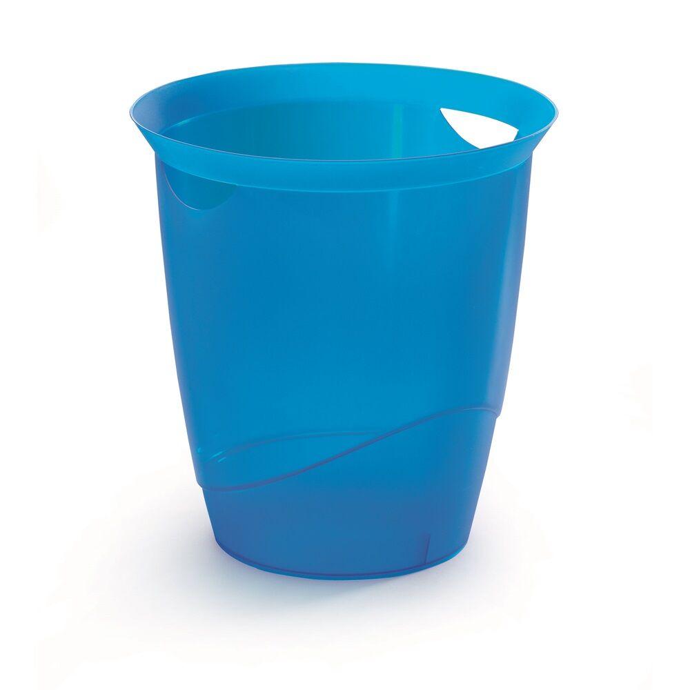 Papírkosár DURABLE TREND, áttetsző kék