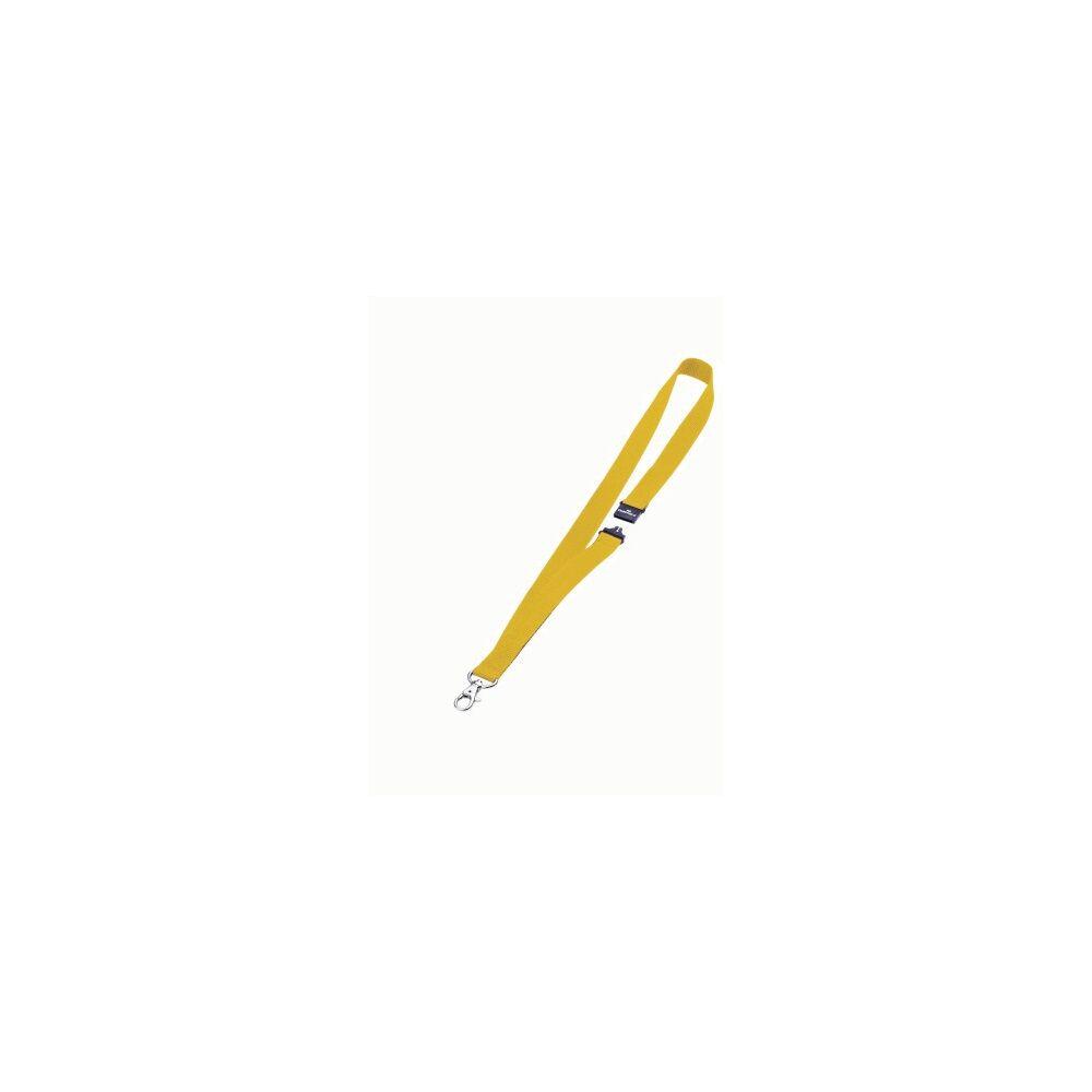 Textil szalag DURABLE karabinerrel, 10db/csomag, sárga