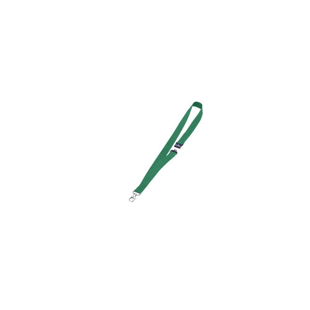 Textil szalag DURABLE karabinerrel, 10db/csomag, zöld