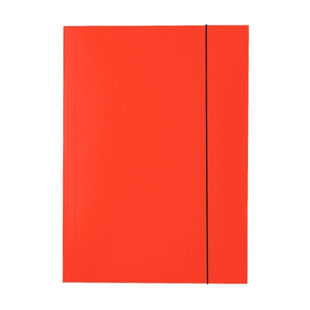 Gumis mappa karton A4, 15 mm ESSELTE Economy piros