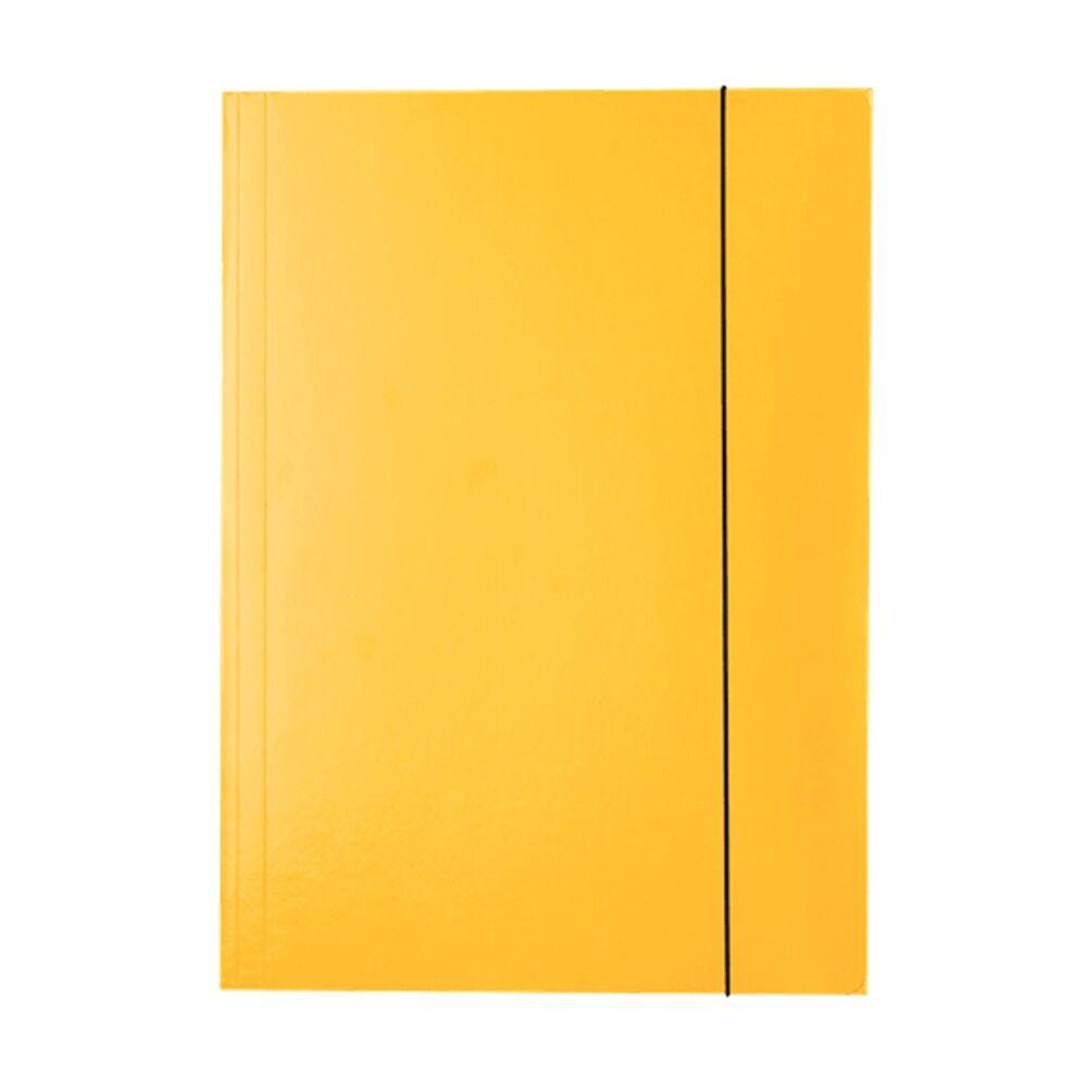 Gumis mappa karton A4, 15 mm ESSELTE Economy sárga