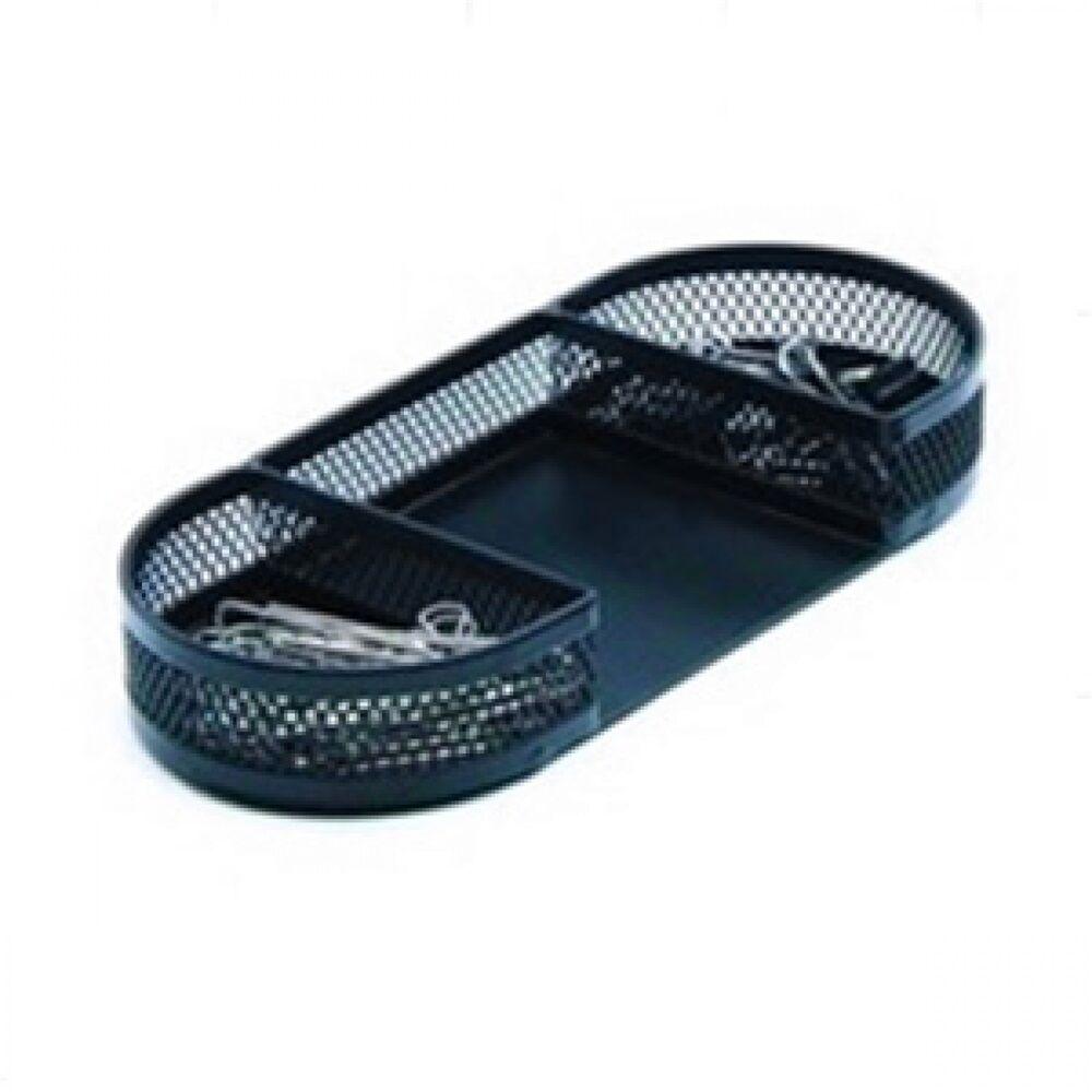 Fémhálós gemkapocs és jegyzettartó fekvő hosszúkás fekete Z3545