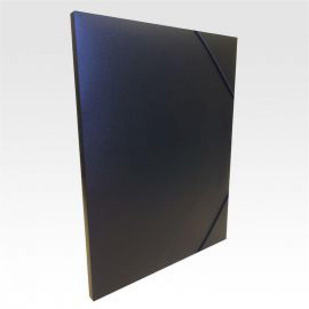 Gumis mappa műanyag gerincvastagított 15 mm fekete