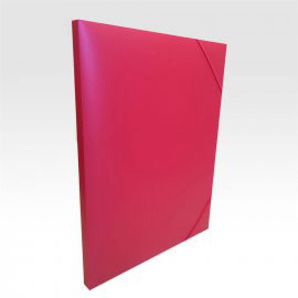 Gumis mappa műanyag gerincvastagított 15 mm piros