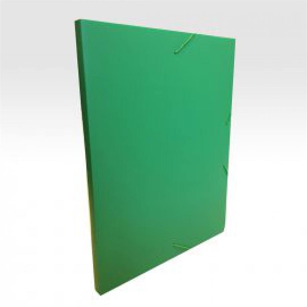 Gumis mappa műanyag gerincvastagított 15 mm zöld