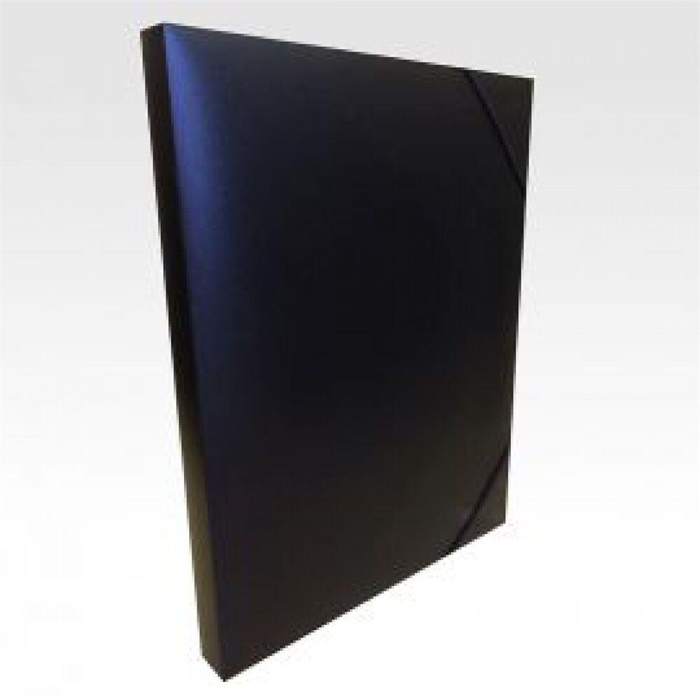 Gumis mappa műanyag gerincvastagított 30 mm fekete