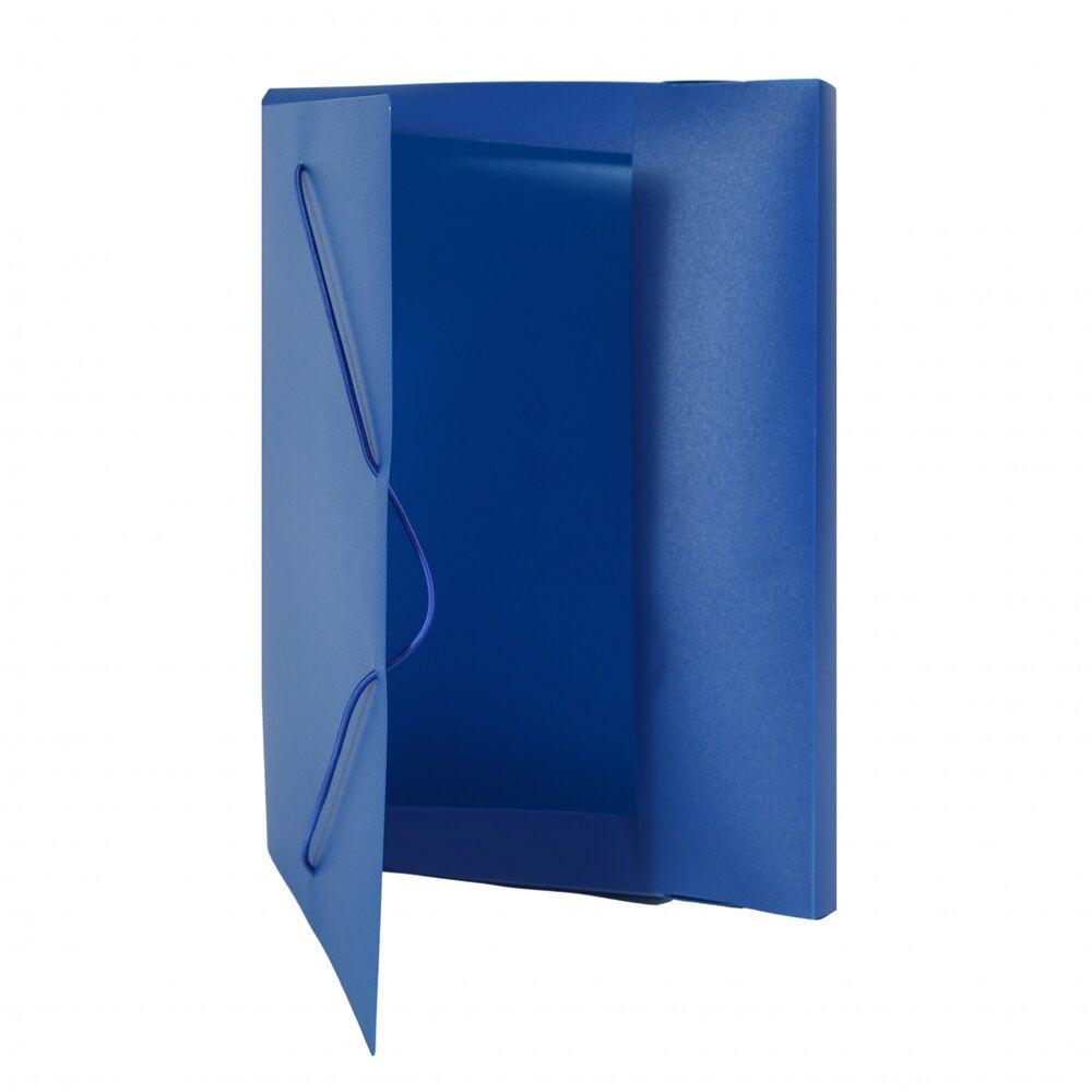 Gumis mappa műanyag gerincvastagított 30 mm kék