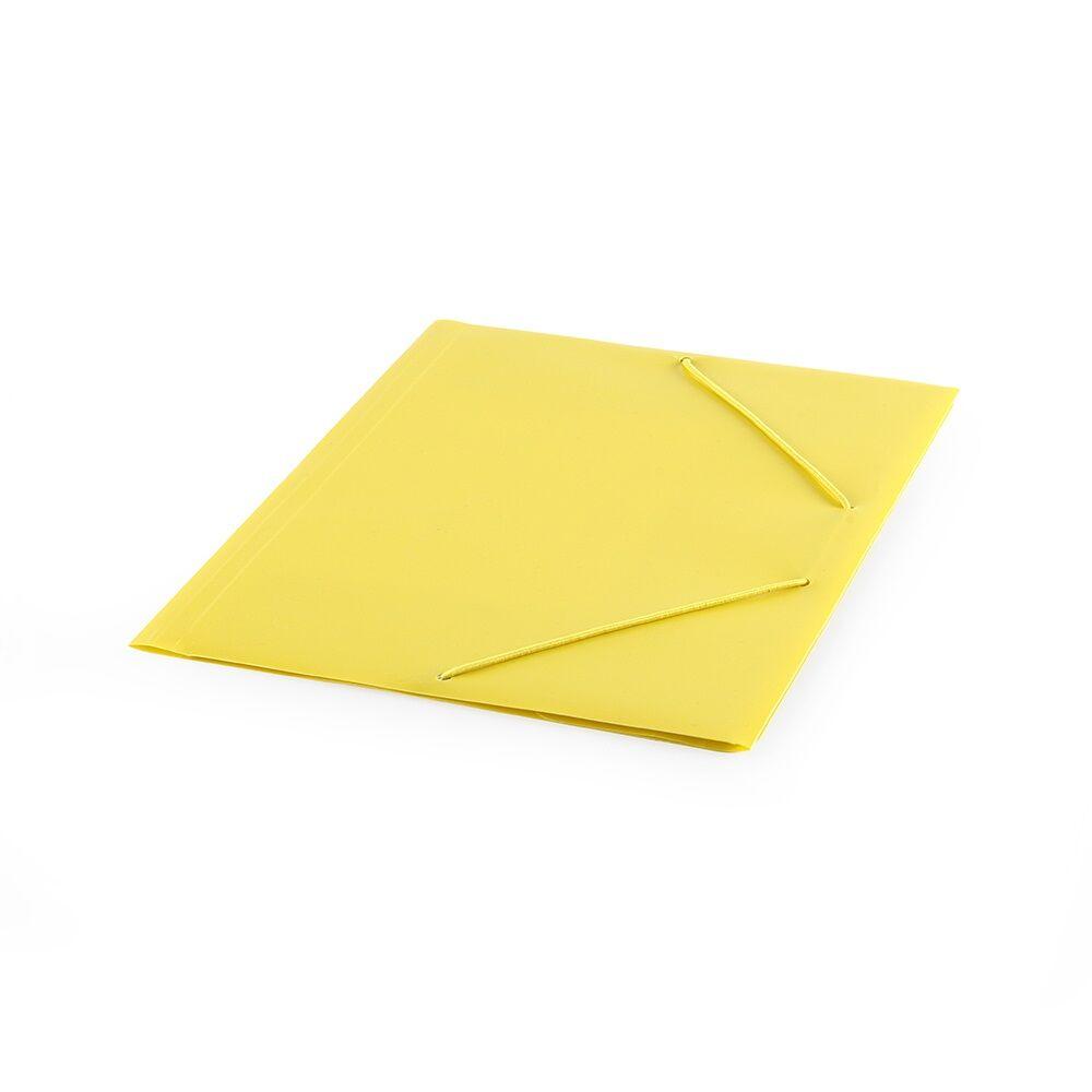 Gumis mappa műanyag sárga Bluering