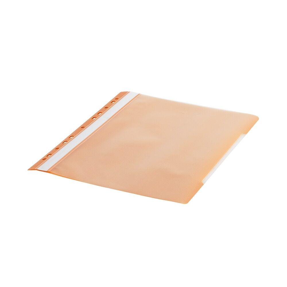 Gyorsfűző lefűzhető A4 PP 11 lyukkal narancs 1 db