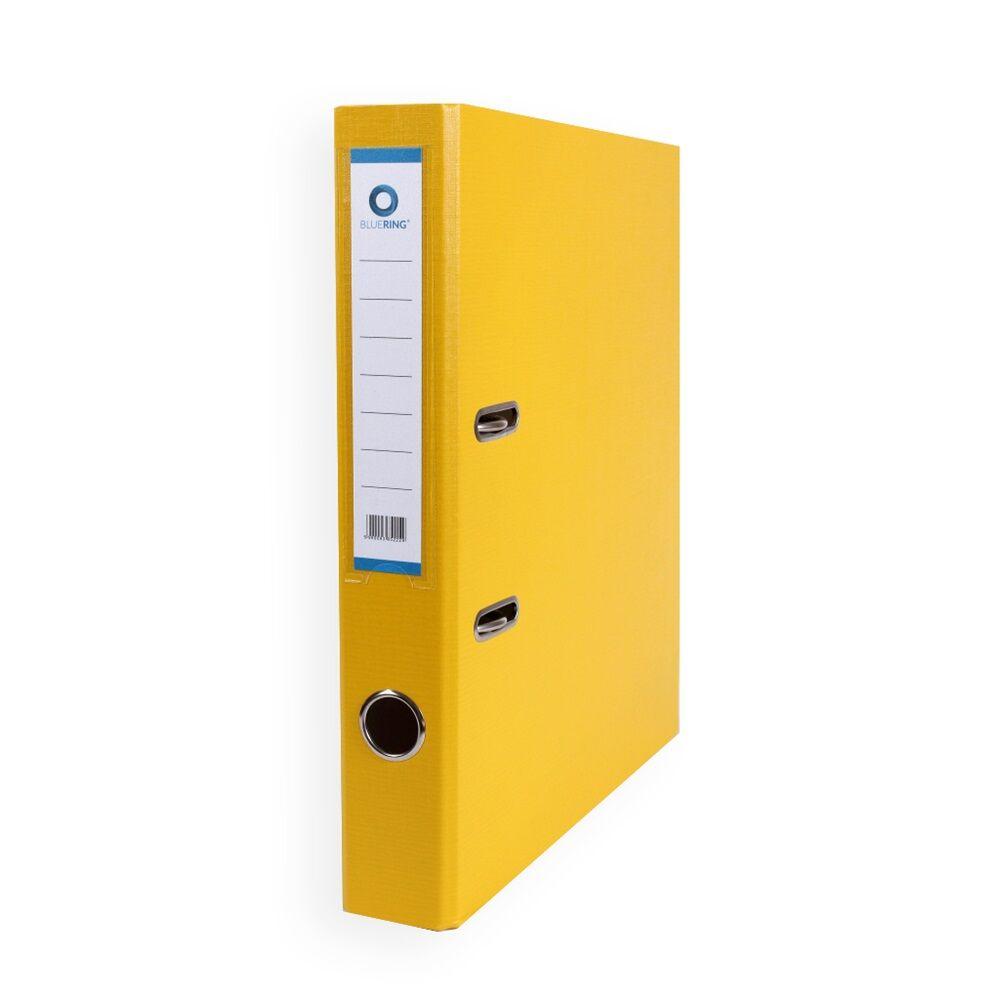 Iratrendező A4, 5 cm, két oldalt PP borítás, BLUERING Premium sárga
