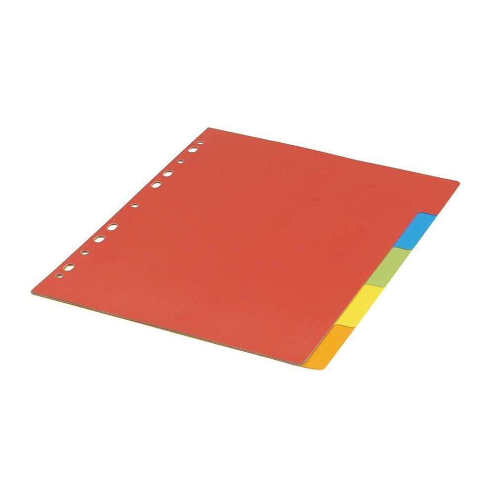 Elválasztólap színes karton 5 részes BLUERING