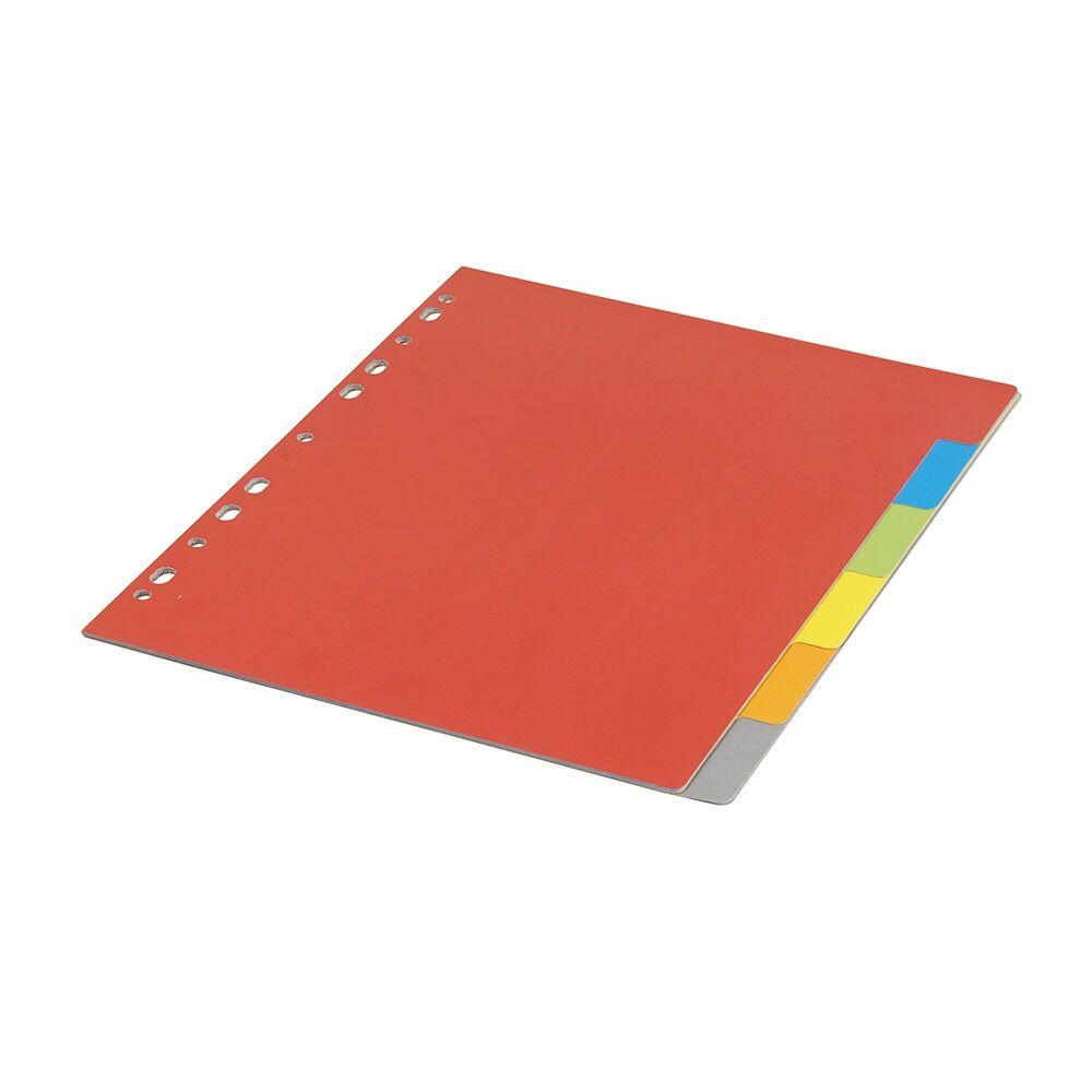 Elválasztólap színes karton 6 részes BLUERING