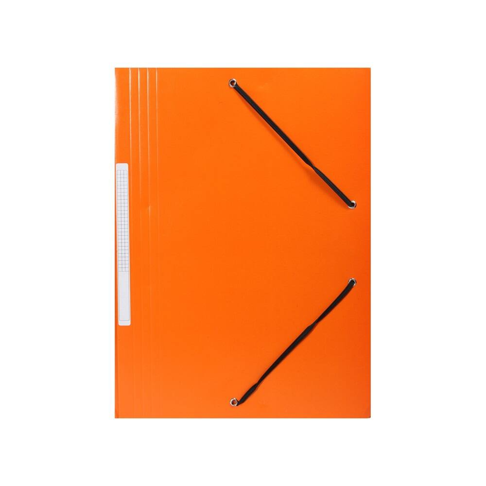 Gumis mappa A4 300gr karton sarok gumírozással narancs