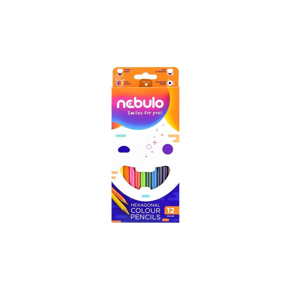 Színes ceruza 12 db -os NEBULO