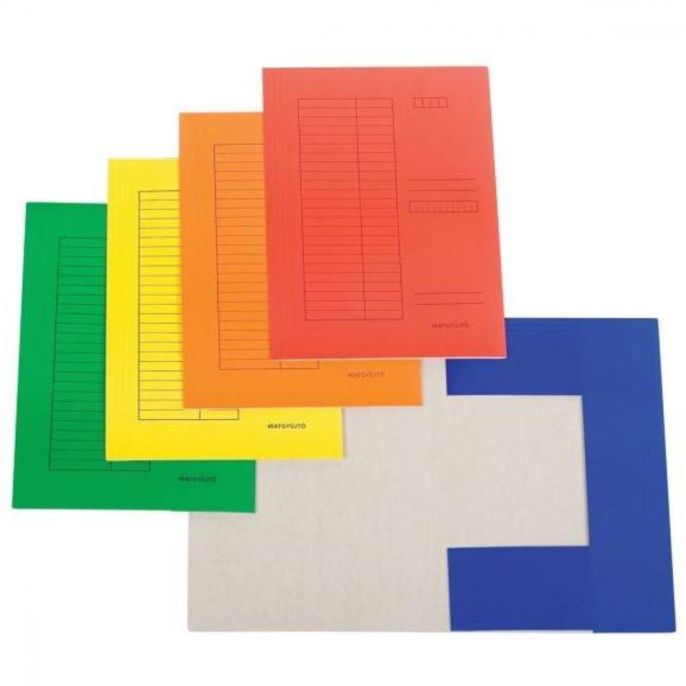 Iratgyűjtő pólyás dosszié okmánytartó karton A4 230gr zöld