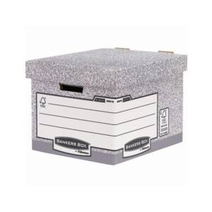 Archiváló konténer, karton, standard, FELLOWES Bankers Box System, 10 db/csomag,
