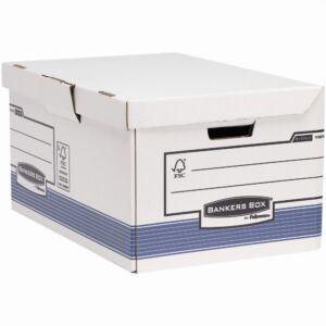 Archiváló konténer csapófedéllel , karton, BANKERS BOX SYSTEM by FELLOWES, 2 db/csomag, kék/fehér