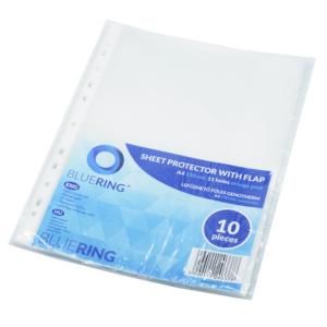 Genotherm lefűzhető, A4 150 micron oldalt hajtófüllel BLUERING 10db/csomag/csom