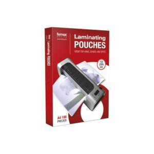 Lamináló fólia FORNAX A/4 100 micron 1/100 öntapadós ( 216x303 mm)