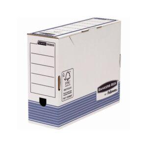 Archiváló doboz 100 mm, FELLOWES Bankers Box System, 10 db/csomag, kék