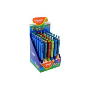 Golyóstoll nyomógombos VINSON FINE 5237 0,7mm vegyes színek