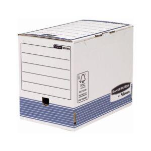 Archiváló doboz 200 mm, FELLOWES Bankers Box System, 10 db/csomag, kék