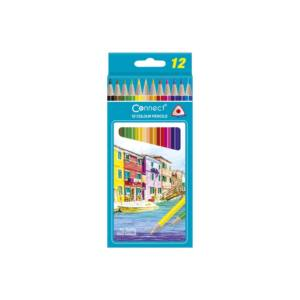 Színes ceruza háromszögletű CONNECT 12db-os készlet,