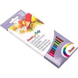 Színes ceruza készlet hatszögletű 12 szín Pentel