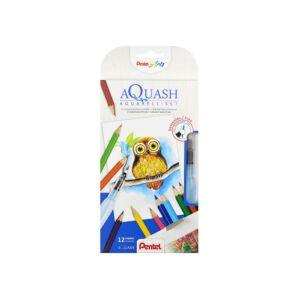 Kreatív szett színes ceruza akvarell + víztartályos ecsetet tartalmaz Pentel