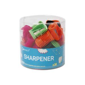 Hegyező műanyag CONNECT egylyukú, különféle színek, 36db/henger
