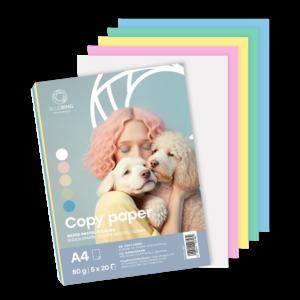 Fénymásolópapír A4 80g PASZTEL színes 5x20 ív/csomag BLUERING
