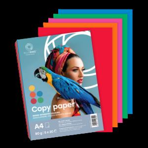 Fénymásolópapír A4 80g INTENZÍV színes 5x20 ív/csomag BLUERING