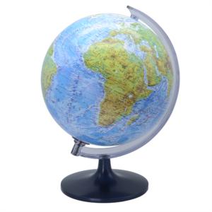 Földgömb 25 cm-es hegy-vízrajzi