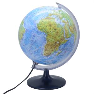 Földgömb 25 cm-es hegy-vízrajzi megvilágított