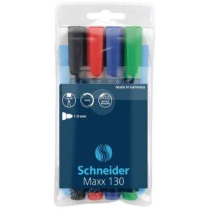 Permanent marker 1-3 mm kerek végű 4-es készlet SCHNEIDER Maxx 130