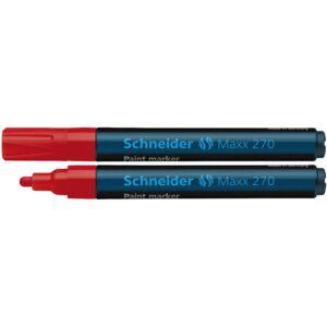 Lakkmarker 1-3 mm SCHNEIDER Maxx 270 piros