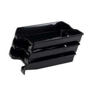 Irattálca műanyag 355 fekete 355x255x60mm