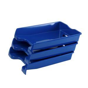 Irattálca műanyag 355 kék 355x255x60mm