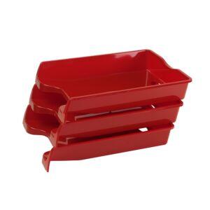 Irattálca műanyag 355 piros 355x255x60mm