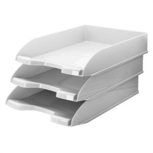 Irattálca műanyag 345 fehér 345x255x65mm