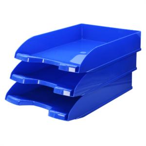 Irattálca műanyag 345 kék 345x255x65mm