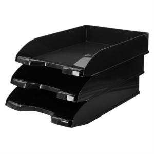 Irattálca műanyag 345 fekete 345x255x65mm