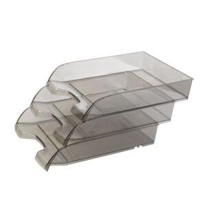 Irattálca műanyag 550 füst extra széles 345x270x67mm