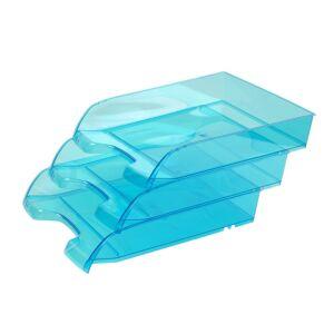 Irattálca műanyag 550 áttetsző kék extra széles 345x270x67mm