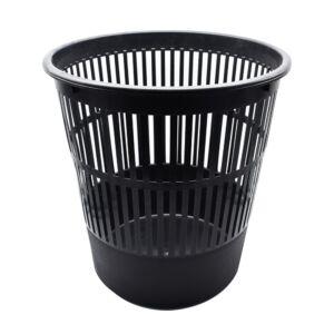 Papírkosár műanyag 16l rácsos fekete 315x305mm Bluering