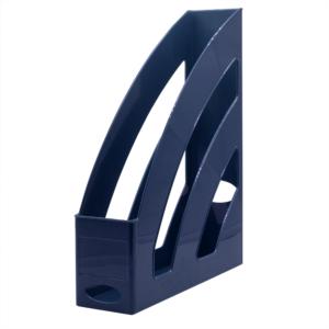 Iratpapucs műanyag 8 cm sötétkék 80x327x253mm