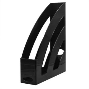 Iratpapucs műanyag 8 cm fekete 80x327x253mm