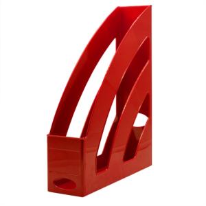 Iratpapucs műanyag 8 cm piros 80x327x253mm
